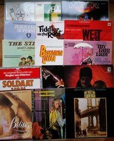18 Sound Track LP's from different Films (3 Double Album)
