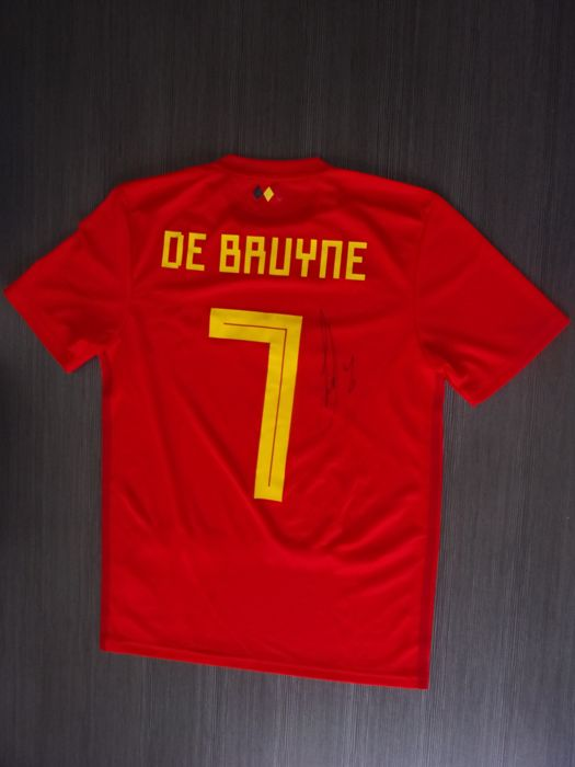 official photos 9a8b7 dbd24 New signed football shirt by Kevin De Bruyne - worn during ...