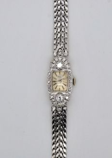 Jacques & Girard Medco - Ladies - 14ct/18ct White Gold - 28/1ct Diamond Encrusted  - Dress Watch