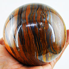 "Fine golden Marra Mamba Tiger Eye ""healing Sphere"" - 104 mm - 1328 gm"