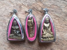 3 Buddhist amulets - Thailand end 20th century