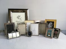12 - various luxury silver-plated photo frames - silver plate