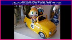Calimero & Priscilla Transport Fiat 500 35 cm money box limited edition - numbered and collector's n°0416 / 2002