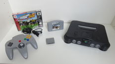 Nintendo 64 with controller, memory pak and 2 games