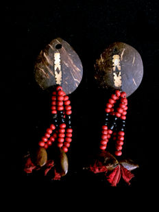 set of two tribal ear decorations - NEW GEORGIA ISLAND - Solomon Islands