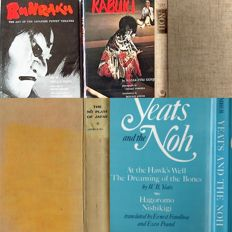 Lot with two classics on Kabuki and Bunraku & three books on Noh Theater - 1921/1978