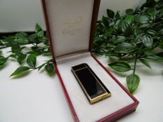Must de Cartier 5 faces black Chinese lacquer & gold