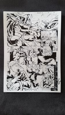 Original Page by Carlos Nieto - DC Comics Injustice Y3 #17 - Page 8 - Batman Superman - Signed