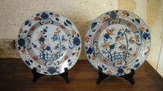 Imari porcelain plates - China - 18th century