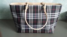 Burberry - Leather Trimmed House Check Tote Bag