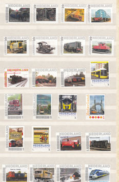 Railway Theme - collection in 2 preprint albums and 24 personal stamps the Netherlands
