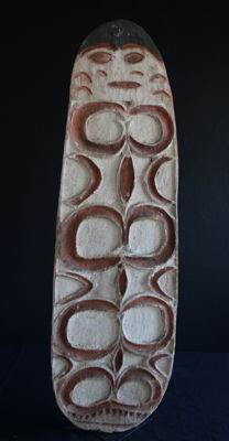 ASMAT SHIELD from the village of MANEP on the Undir River