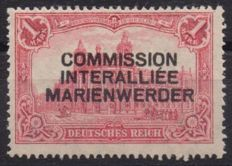 Germany - 'Marienwerder' 1920 1 Mark with Type 1 overprint in black - Michel No. 21 I Raybaudi Diena