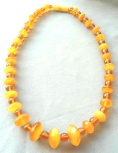 Vintage Baltic amber necklace, 100% natural, 30.4 g, no reserve