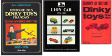 Lot with Reference books :  Histoire des Dinky Toys Français, Lion Car en History of British Dinky Toys