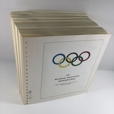 Topic, Olympic Games Munich 1972 - collection on 175 pages (Lindner preprint)