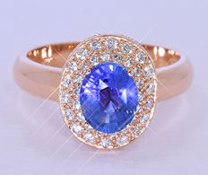 2.02 Ct Natural Sapphire and Diamonds ring NO reserve price!