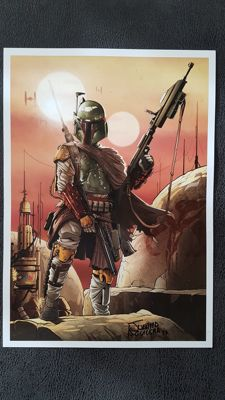 Star Wars Boba Fett : Art Print  Signed by Juanma Aguilera