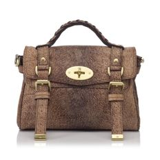 Mulberry - Printed Leather Mini Alexa