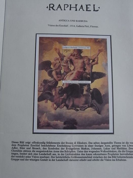 Religion, art and paintings - Thematic collection Raphael in 2 albums