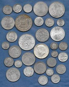 World - Lot with various coins 1730/2004 (32 different) - silver