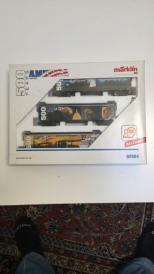 Märklin H0 - 84564 - 3 x freight cars for the 500 year jubilee for the discovery of America