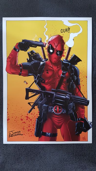 Deadpool : Art Print - Signed by Juanma Aguilera