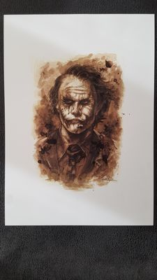 Art Print - Batman The Joker : Coffee Drawing by Juapi (Juan Antonio Abad González )