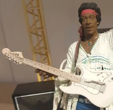 McFarlane Jimi Hendrix Woodstock on 1969 + Scene (Stage)!!! Very rare figurine!!!