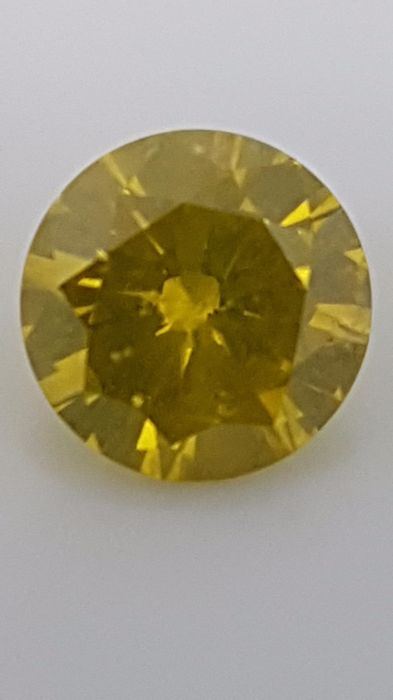 1.58 ct - Round Brilliant - Yellow - SI1