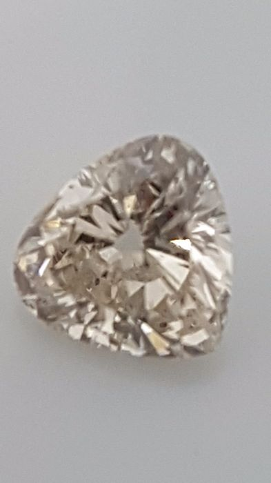 1.00 ct - Heart cut - White - H / VS2