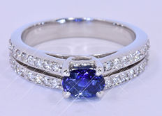 1.55 Ct 100% Natural Sapphire ring NO reserve price!