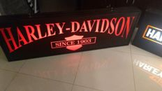 Illuminated box - HARLEY DAVIDSON - one side - 150/50/13cm. Good condition . Year ca. 2013.