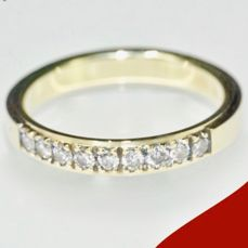 4.21 g heavy 14 kt yellow gold DESIREE women's engagement ring with brilliant cut diamonds (0.36 ct); No minimum price