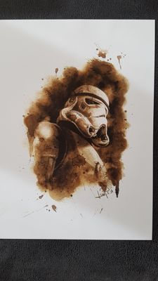 Art Print - Star Wars Imperial Stormtrooper : Coffee Drawing by Juapi (Juan Antonio Abad González )