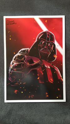 Star Wars Darth Vader : Art Print  Signed by Juanma Aguilera