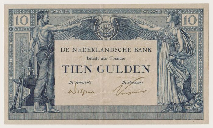 The Netherlands - 10 guilder 1921 - Labour and Wealth II - PL34.b2
