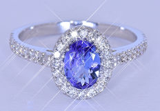 1.57Ct Natural Sapphire with Diamonds NO reserve price!