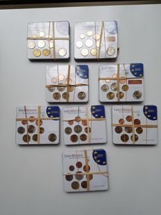 Germany - Coin sets 2003–2010 (40 pieces) A, D, F, G, J