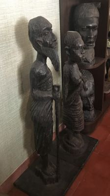 Figures of African tribal crafts early 20th century