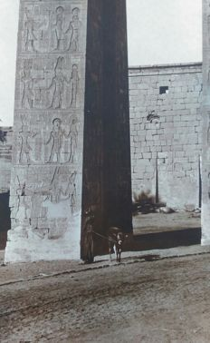 2 x Lehnert & Landrock - Egypt Karnak, Portal of Evergetes I - Panorama Thebes, Valley of the Kings