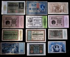 Germany - 54 banknotes from 1902 to 1923