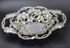 Armenian Silver Sweet Basket, Hallmarked 800