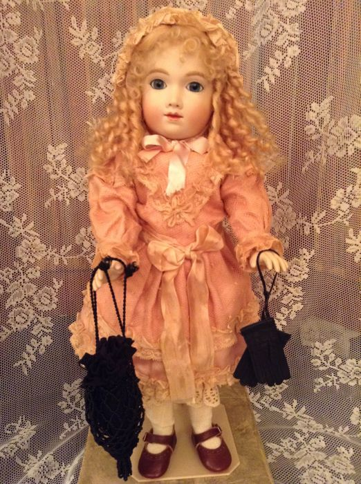 Very nice Bru doll of high quality after old model large size