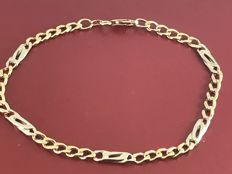 Men's 18k gold fancy bracelet size 22,5 cm length