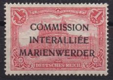 Germany, 'Marienweder' 1920 1 Mark with Type 2 overprint in black - Michel No. 21 IIA Raybaudi