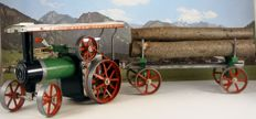 Mamod, England - Length 55 cm - Steam tractor with trailer TE1A- LW1, loaded with trunks, 1960s-70s