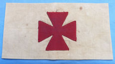 Super rare and original WW1 Imperial German Army Red Cross Armband - dated 1918
