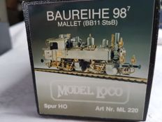 "Model Loco H0 - ML 220 - steam locomotive BB11/BR98 ""Mallet"" of the K.bay.Sts.B."
