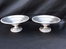 Set silver coupes 2 items, ca. 1950